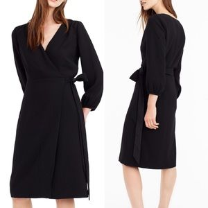 NWT Black J. Crew 365 Crepe Wrap Dress (8)